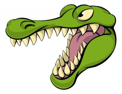 Наклейка Аллигатор или крокодил мультфильм характер