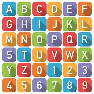 Наклейка алфавит иконки