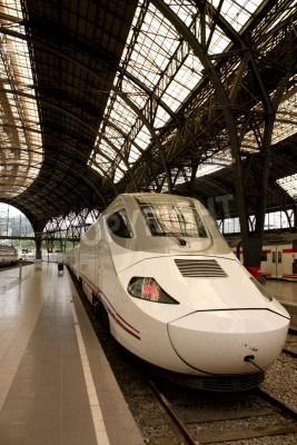 Наклейка Железнодорожный вокзал Alvia во Франции, Барселона, Испания