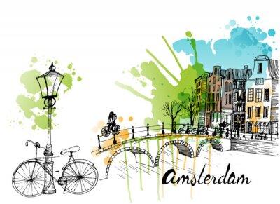 Наклейка Амстердам