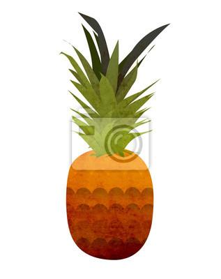 Наклейка ананас
