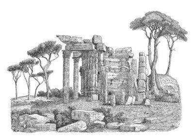 Наклейка Древнегреческий иллюстрация колонка