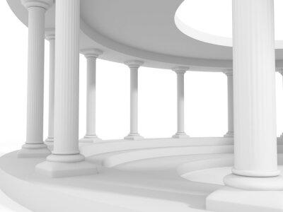 Наклейка древний стиль колонки архитектура дизайн фона