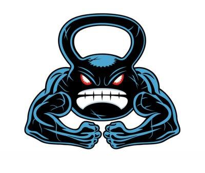 Наклейка angry kettlebell