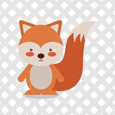 Наклейка дизайн животных мультфильм