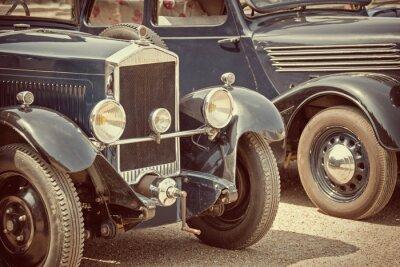 Наклейка Античные автомобили, старинные процесс
