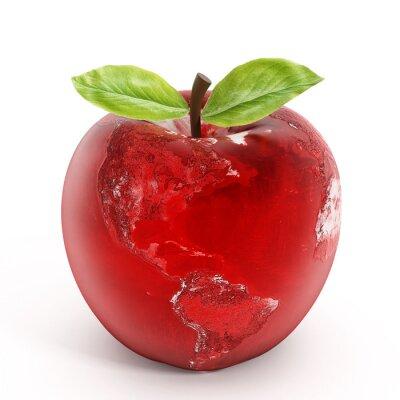 Наклейка Apple, земля