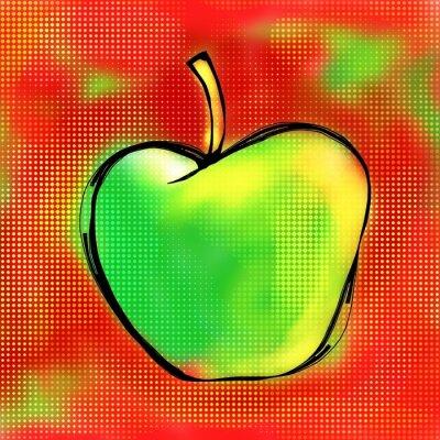 Наклейка Apple, Живопись