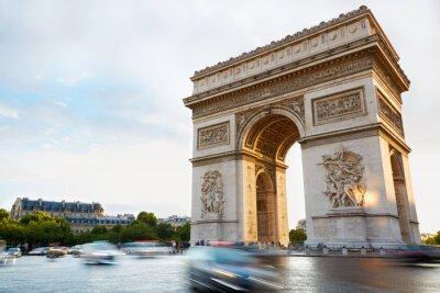 Наклейка Триумфальная арка в Париже во второй половине дня