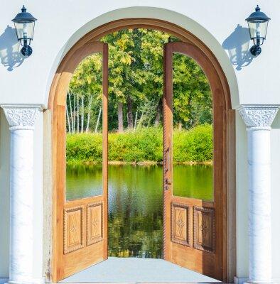 Наклейка Арка дверь пруд