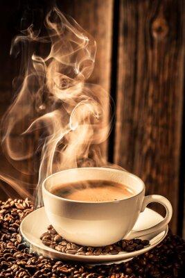 Наклейка Aroma coffee cup with roasted seeds