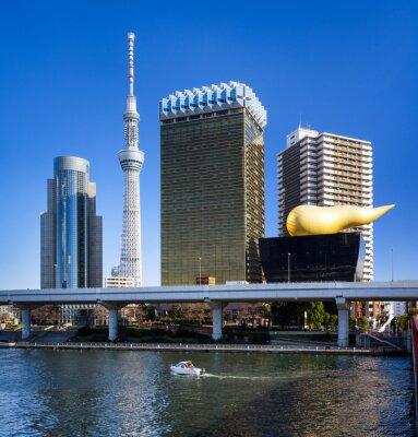 Наклейка Асакуса в Токио Skyline мит унд Skytree Asahi Gebäude