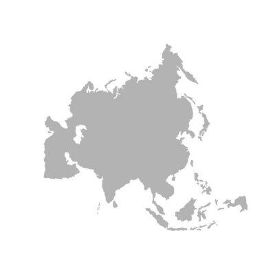 Наклейка Asia outline world map - Vector