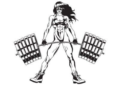 Наклейка Спортивное девушка