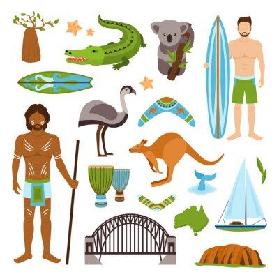 Наклейка Австралия иконки