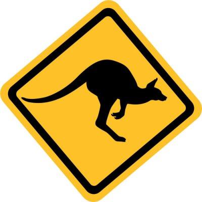 Наклейка Австралия кенгуру знак