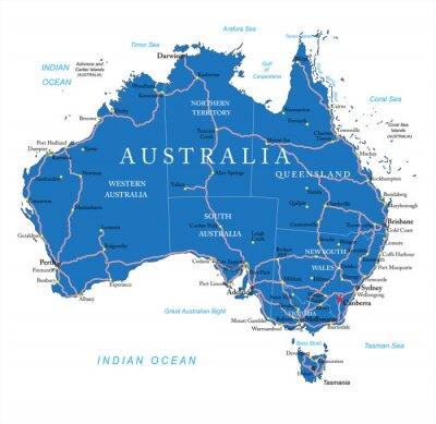 Наклейка Австралия дорожная карта