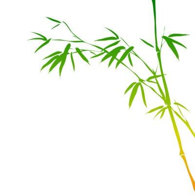 Наклейка фон с ветвями бамбука