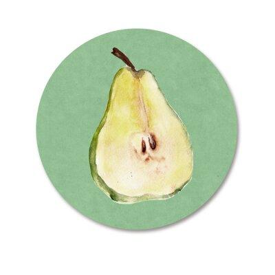 Наклейка Фон с фруктами. Акварель иллюстрация
