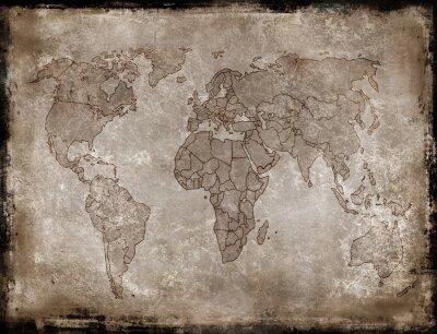 Наклейка фоны-старая карта
