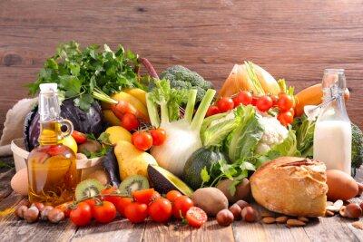 Наклейка концепции питания сбалансированной диеты