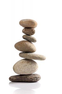 Наклейка Сбалансированный стек различных речных камней