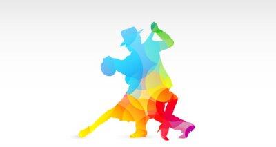 Наклейка Ballerini ди танго, Colori, фантазия, Danza, Ballerini, танго