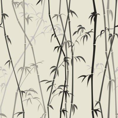 Наклейка бамбуковый фон