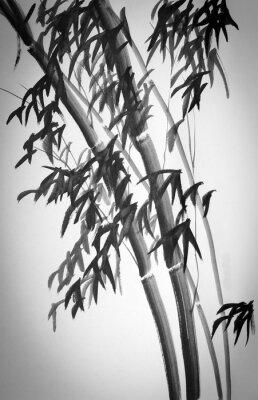 Наклейка бамбуковые деревья