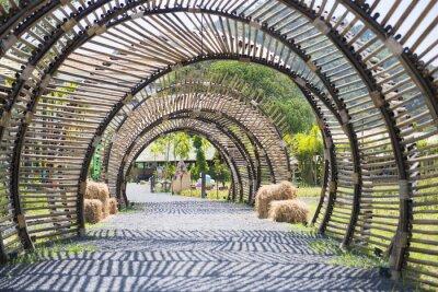 Наклейка Структура туннеля бамбука в саду
