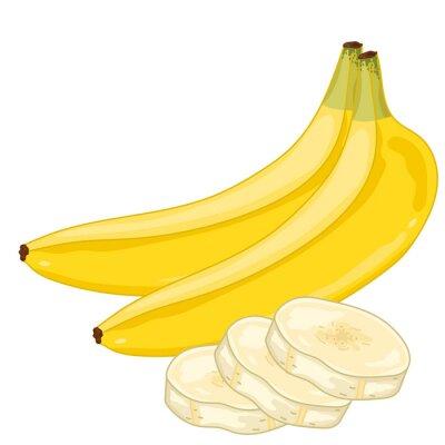 Наклейка Банан Изолированные на белом фоне.