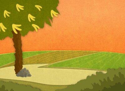Наклейка Мультфильм стильный фон растр иллюстрации.