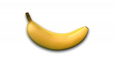 Наклейка Банан, тропические фрукты, изолированных на белом фоне, вид сбоку