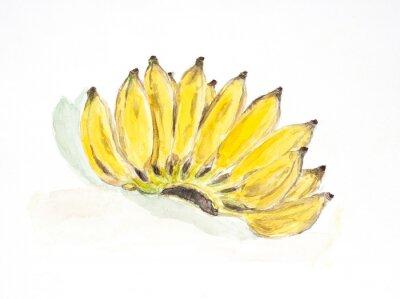 Наклейка цвет банана воды окрашены