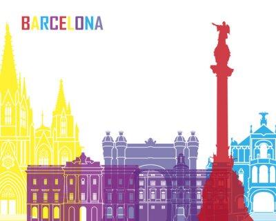 Наклейка Барселона, панорама поп