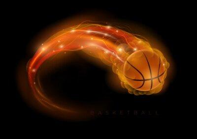 Наклейка Баскетбол комета