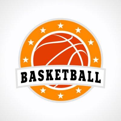Наклейка Баскетбол эмблема логотип