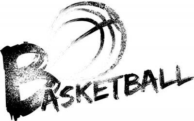 Наклейка Баскетбол Гранж полосы