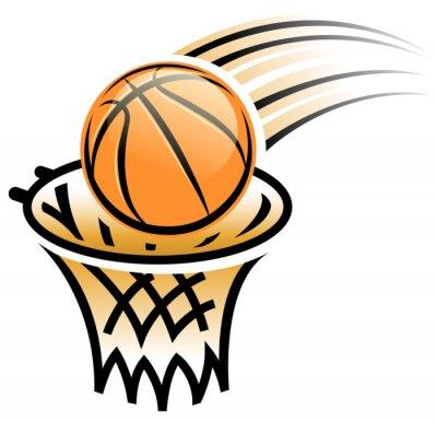 Наклейка баскетбол обруч символ