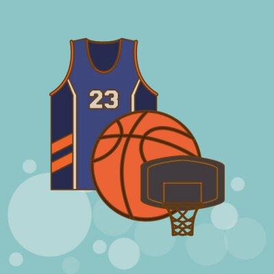 Наклейка дизайн иконок Баскетбол