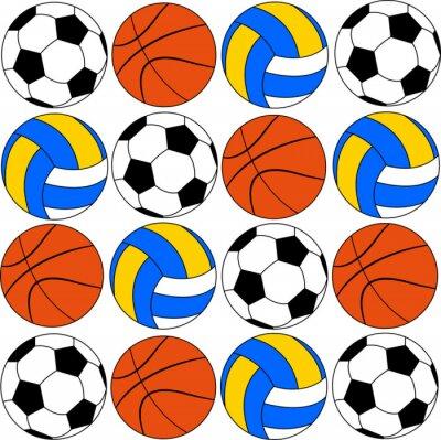 Наклейка баскетбол иконки футбольные мячи и волейбольные