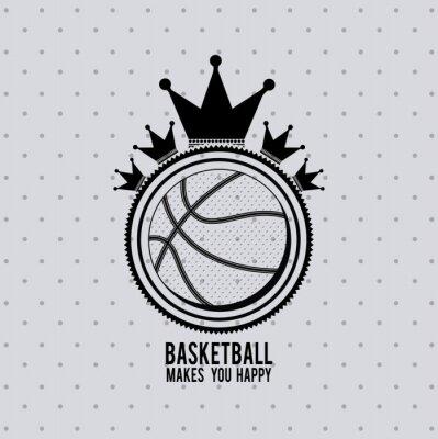Наклейка дизайн баскетбольная лига