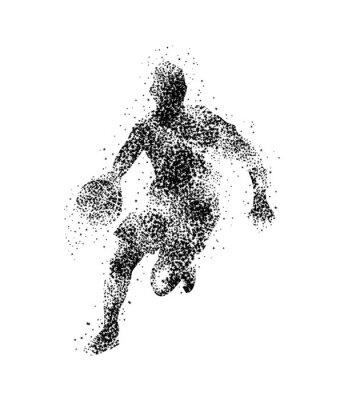 Наклейка баскетболист, силуэт
