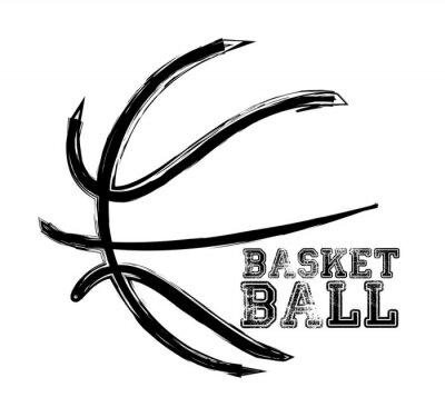 Наклейка спорт баскетбол