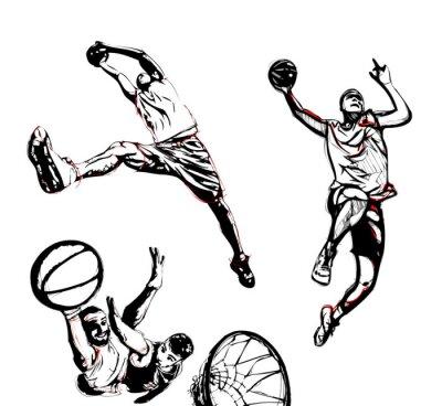 Наклейка баскетбол трио