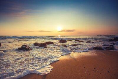 Наклейка Красивая облака над морем