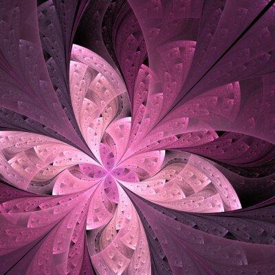 Наклейка Красивые диагонали фрактал цветок или бабочка в витражных
