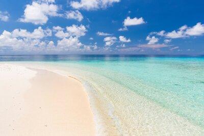 Наклейка Красивый океан пляж на Мальдивы