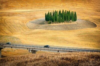 Наклейка Прекрасный вид на летний пейзаж в Тоскане