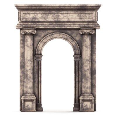 Наклейка Бежевый мрамор Composite Arch, изолированных на белом